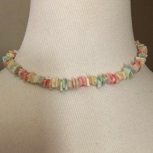 Chip Stone Necklace / Choker - Light Colors